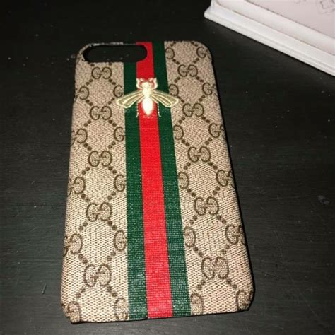 accessories  gucci iphone   phone case logo bee stripe poshmark