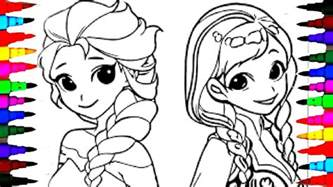 coloring pages disney frozen cartoon elsa anna coloring book videos children learning