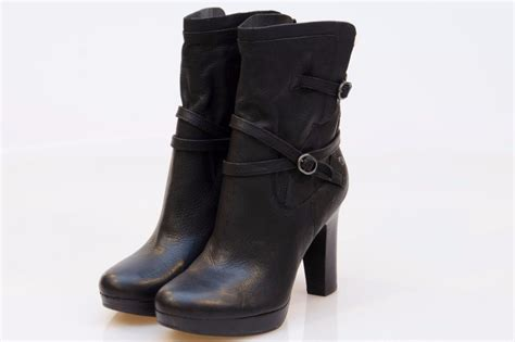 high heel ugg boots ugg high heel black buckle boots size us 9 uk 7 5