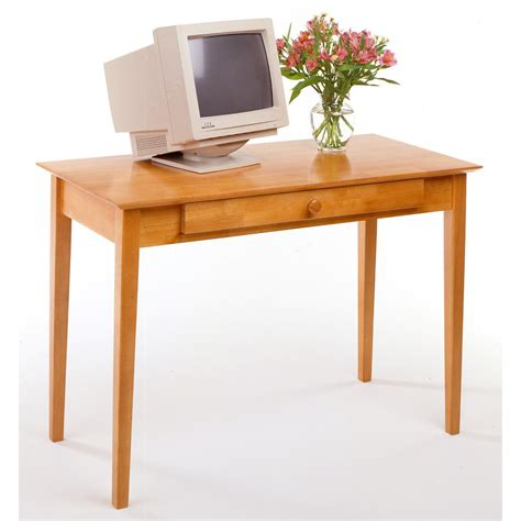 Wide Office Desk Winsome 174 42 Quot Wide Honey Finished Home Office Computer Desk 151347 Office At Sportsman S Guide