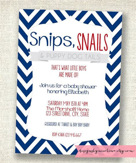 Snips And Snails And Puppy Tails Baby Shower by Snips And Snails And Puppy Tails Boy Baby Shower