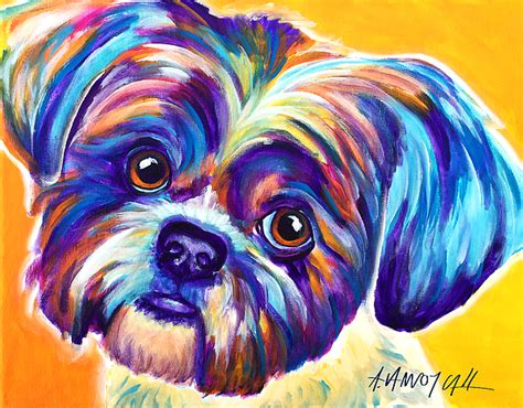 shih tzu painting shih tzu dreamy by vannoy call