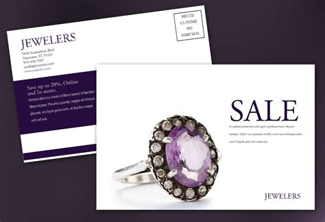 Postcard template for Jewelry and Retail Store. Order