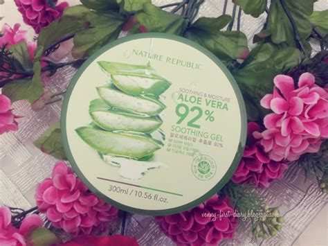 Efek Sing Nature Republic Aloe Vera Soothing Gel review nature republic soothing moisture aloe vera 92