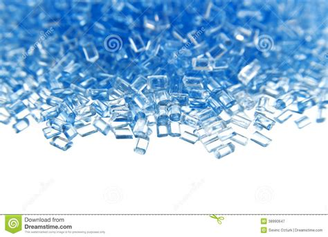 layout elements polymer plastic polymer granules on white background stock photo