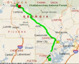 map of the apple orchards and roadside stands in ellijay