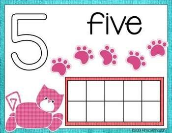 Playdough Mats Numbers by Number Play Dough Mats With Ten Frames And