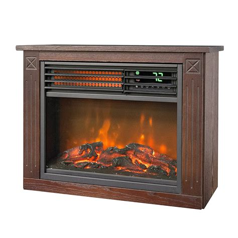 Lifesmart Fireplace by Lifesmart Large Room Infrared Quartz Fireplace In Burnished Oak Finish W Remote Ebay