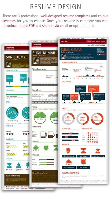interactive resume builder interactive resume builder on behance