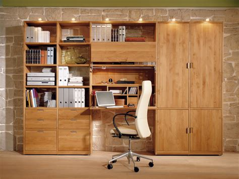 Study Room Desk wood bookcase with integrated folding desk for study room by huelsta digsdigs