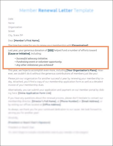 5 Ways To Enhance Your Membership Renewal Letter Subscription Renewal Email Template
