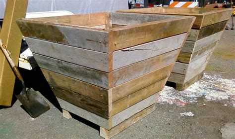 wood planter box plans recycled wood planter box flickr photo