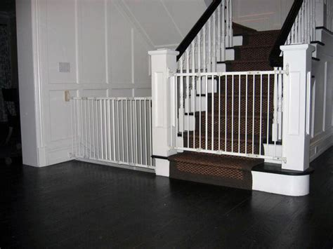 baby gate for top of stairs with banister and wall top of stair baby gate banister elegant geuther cm with
