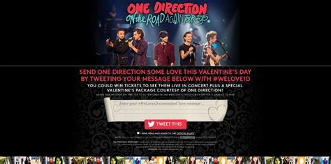 One Day Sweepstakes - one direction valentine s day sweepstakes send some love to win