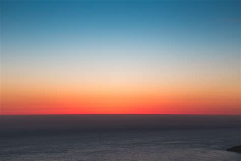 wallpaper  horizon sea sunset sky hd