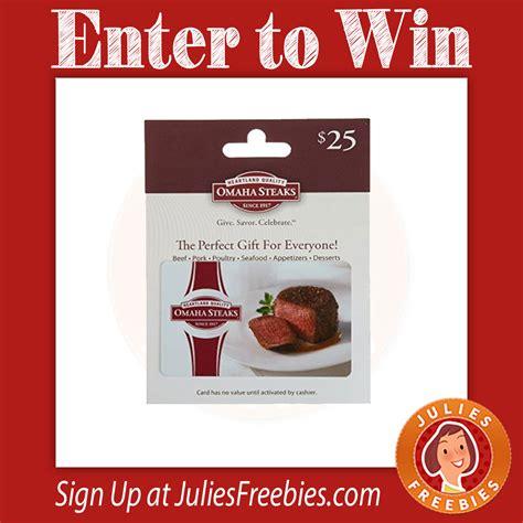 Omaha Steaks Gift Cards - omaha steaks gift card giveaway julie s freebies