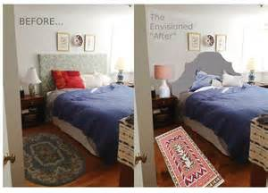 before and after bedroom makeovers tiptoethrough before and after diy headboard makeover