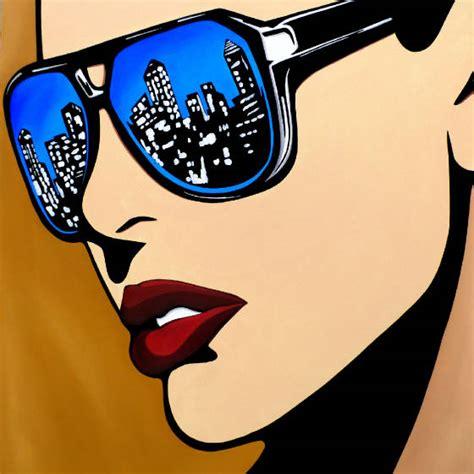 pop artists vision original abstract pop portrait painting