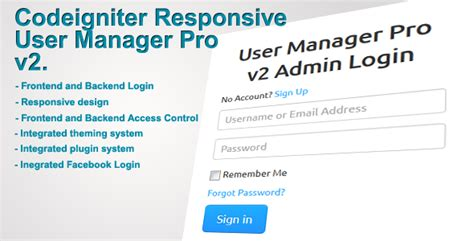 codeigniter simple login secure php scripts codeigniter user manager pro v2 codecanyon