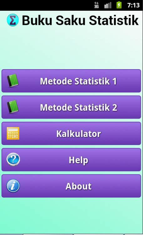 Aplikasi Statistik 1 ngode in aplikasi android buku saku statistik