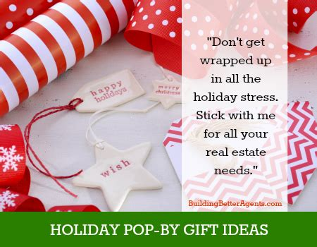 holiday pop by gift ideas for realtors