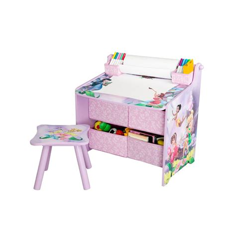Promo Drawing Board Artdesk Kecil delta children disney fairies table with paper roll wipe board and storage