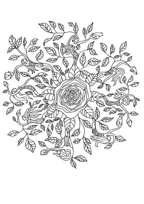 mandala coloring pages roses mandalas on mandala fractals and crown chakra