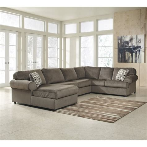 jessa place dune sectional ashley jessa place 3 piece polyester sectional in dune