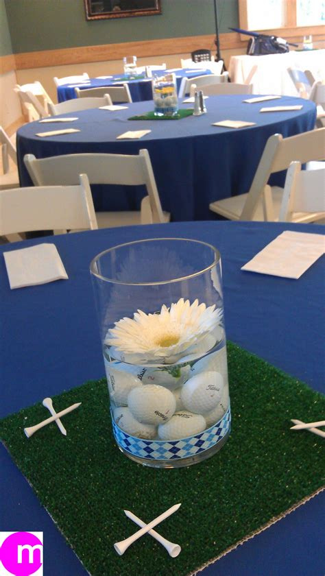 themed golf events golf theme centerpiece at post tournament luncheon golf
