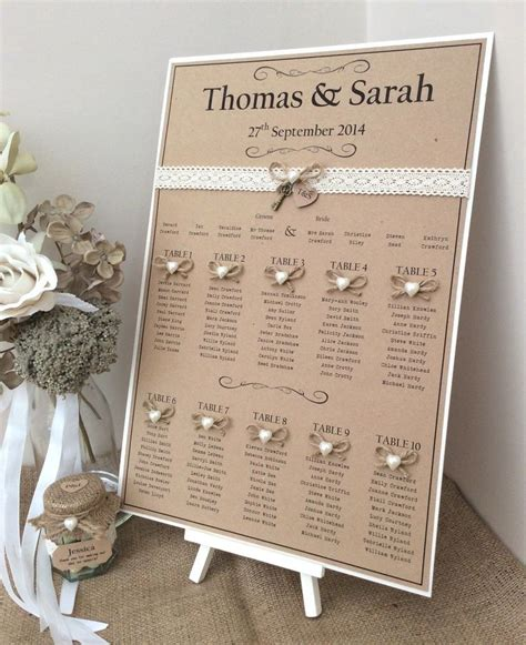 rustic shabby chic a3 wedding table seating plan wedding wedding table seating and glitter