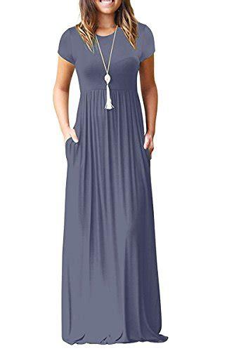 viishow womens short sleeve loose plain maxi dresses