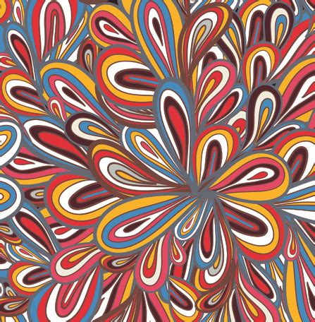 Colorful Designs And Patterns | elements of colorful floral seamless pattern design vector
