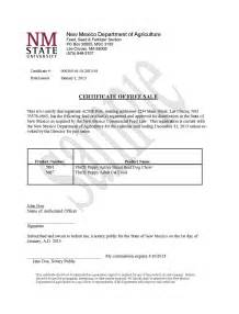 Free Sale Certificate Template by Certificates Of Free Sale New Mexico Department Of