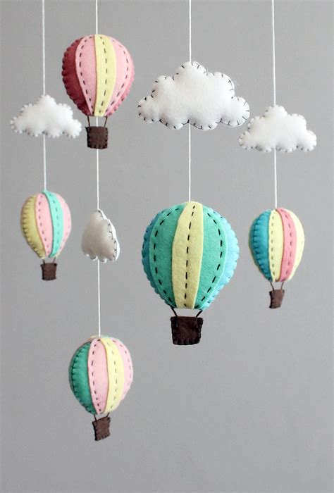 Handmade Air Balloon Decorations - diy baby mobile kit make your own air balloon by
