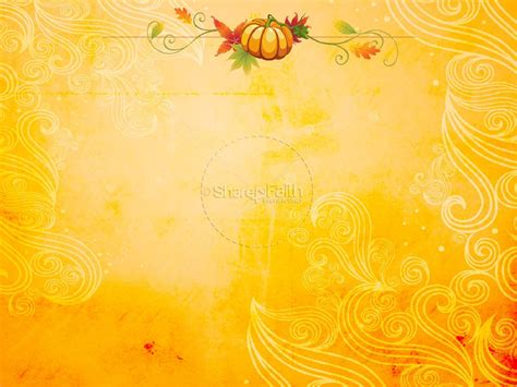 Happy Fall Powerpoint Template Fall Thanksgiving Powerpoints Autumn Powerpoint Background