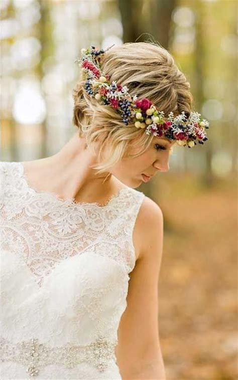 wedding hairstyles for short dipped in
