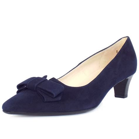 navy shoe kaiser egina s kitten heel court shoes in