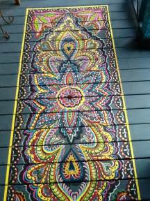 Painted Floor Mats For Sale Top 10 Stencil And Painted Rug Ideas For Wood Floors