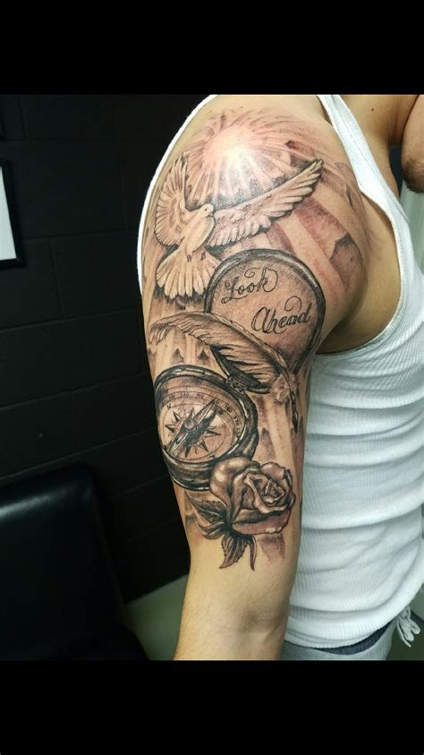 half sleeve name tattoo designs best 25 mens half sleeve tattoos ideas on
