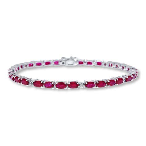 jared ruby bracelet 1 20 ct tw diamonds sterling