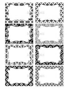 black and white damask amp floral printable digital by