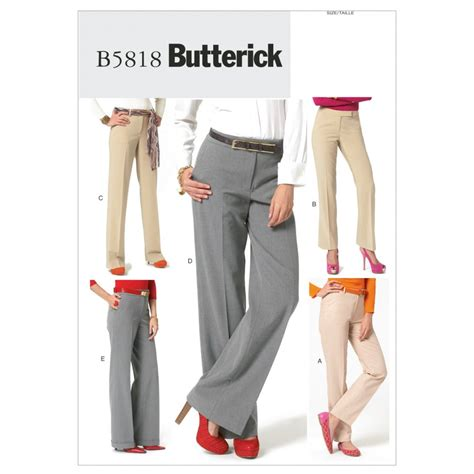 sewing pattern ladies trousers butterick ladies sewing pattern 5818 trousers with