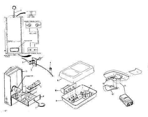 Radio Controls Diagram Parts List For Model 139654001 Craftsman Garage Door Parts List