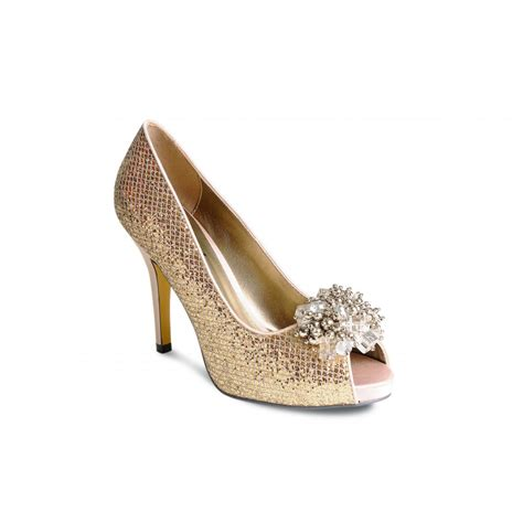 gold shoes lunar flr147 gold glitzy shoe with bead trim lunar from
