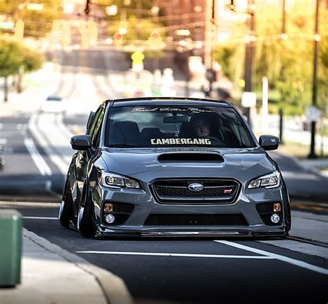 subaru sti 2016 slammed quot bagged 2015 subaru sti quot photographic prints by