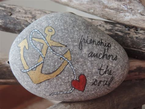 Hand Painted Love Anchors The - friendship anchors the soul inspirational hand painted