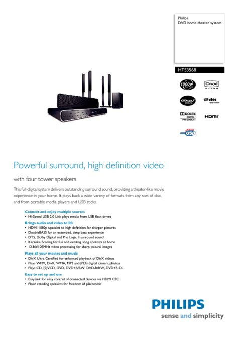 Home Theater System Users Guides Quot Home Theater System