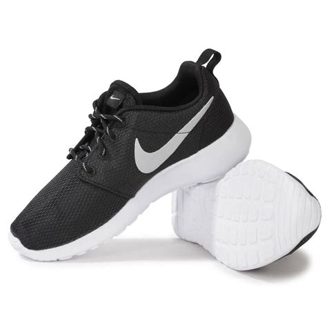 nike roshe run black white womens trainers ebay