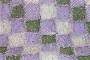 Green Quilt Pink Green Rag Quilt