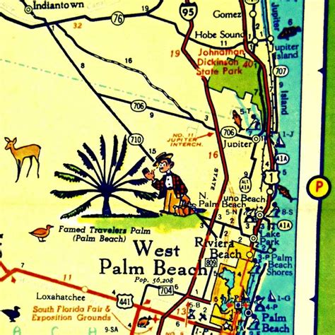 west palm florida map west palm map print florida map by vintagebeachmaps